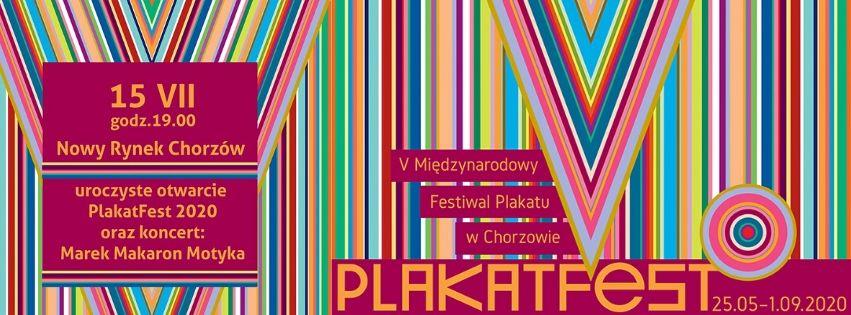 | Wernisaż PlakatFest i koncert: Marek Makaron Motyka - Chorzów, Rynek